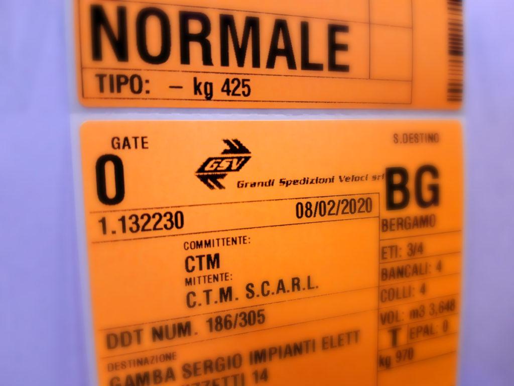 Etichette di semistamento GSV